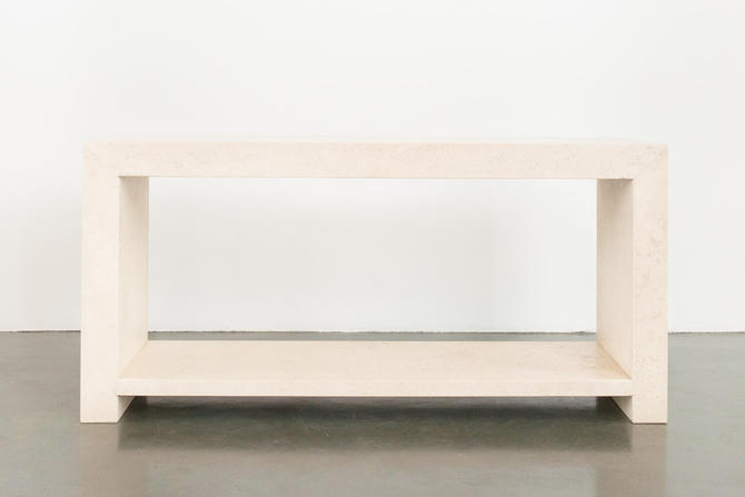 Mod Travertine Console by HomesteadSeattle