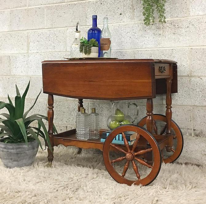 LOCAL PICKUP ONLY ————— Vintage Bar Cart by RetrospectVintage215