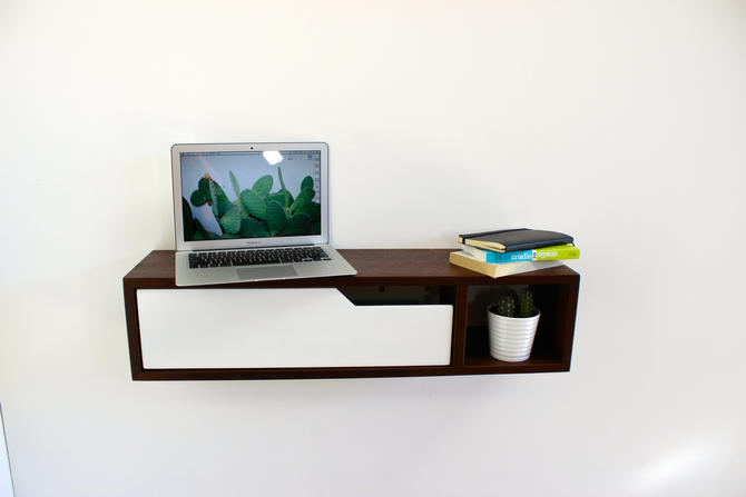 Mid Century Modern Floating Console, Entry Table, Side Table by ImagoFurniture