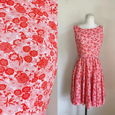 Vintage 1960s Rose Garden Floral Rayon Dress / XS by MsTips