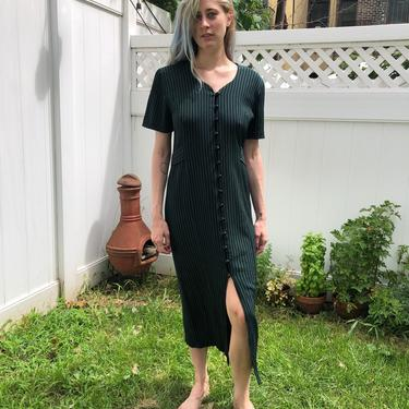 Crinkled Stripey Dress