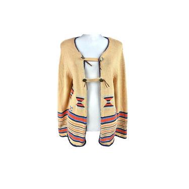 90s Denim & Co Cardigan | Vintage Southwestern Cardigan Sweater | Vintage Clothing Western Cardigan Womens Southwest Print Ranch Wear by DakodaCo