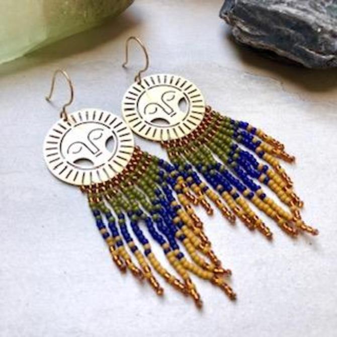 Peaceful Sun Fringe Earrings