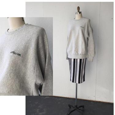 Reverse Weave Sweatshirt, Grey Sweatshirt, Vtg Lee, Gray Sweater, Cotton Sweatshirt, Heather Gray Sweater, Oversized Sweatshirt, Sweater Vtg by vaniageneralstore