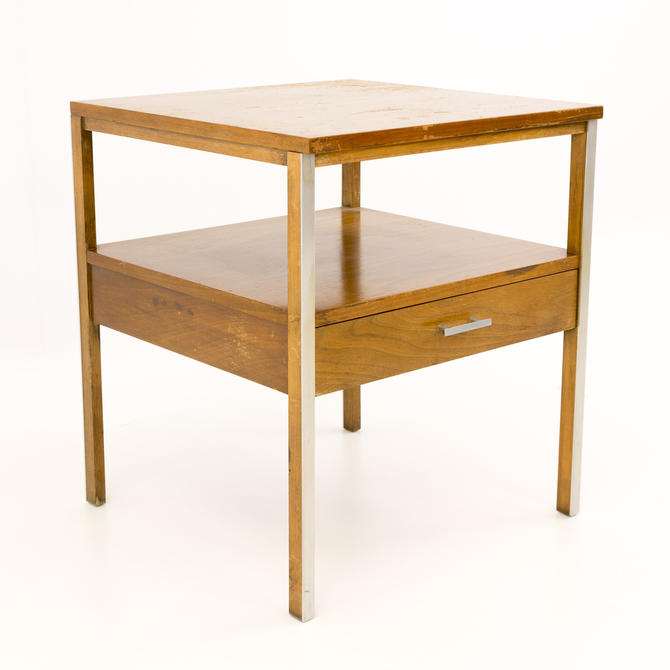 Paul McCobb for Calvin Linear Mid Century Side End Table Nightstand - mcm by ModernHill