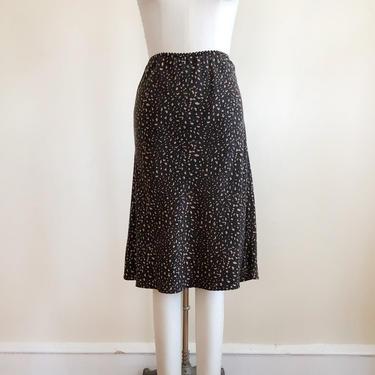 Cheetah/Animal Print Silk Midi Slip Skirt - 1990s by LogansClothing