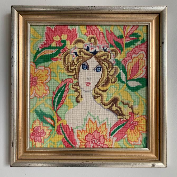 HA-19205A Lady Pink & Green Needlework
