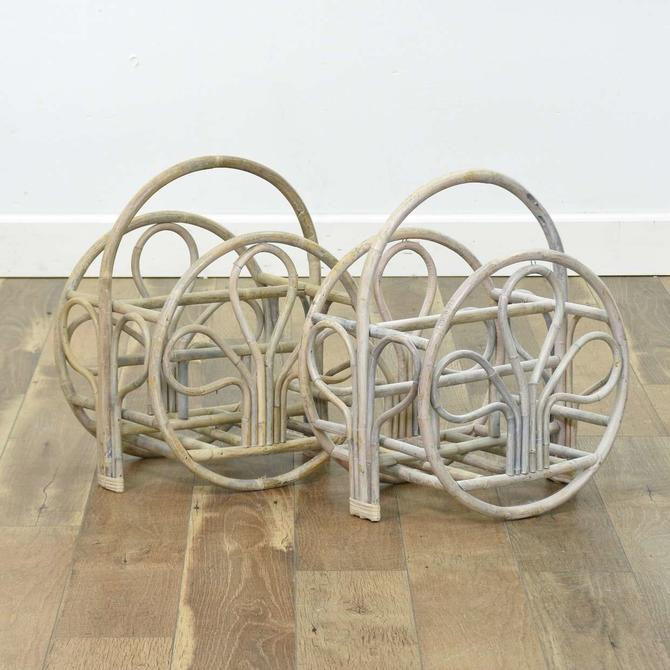Pair Of Art Deco Bentwood Clover Design Magazine Racks