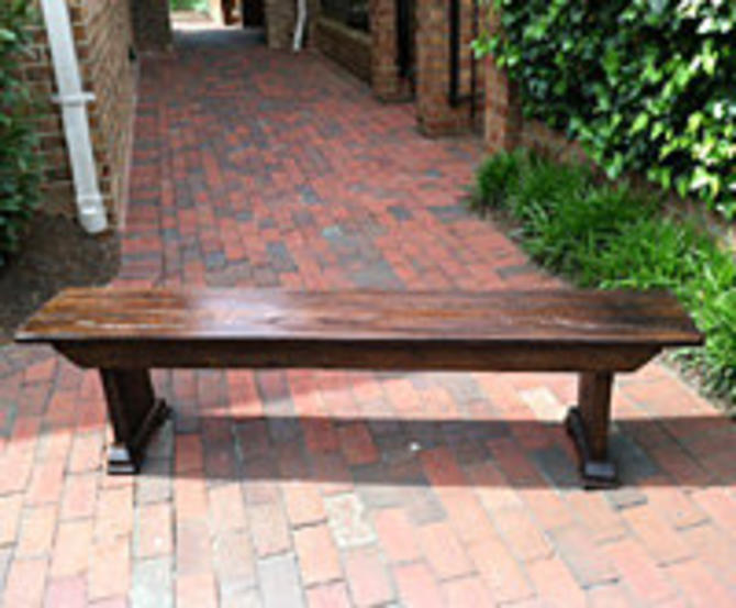 Classic Farm Bench from Reclaimed Barn Wood by StrongOaksWoodshop