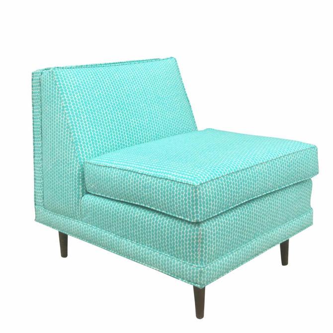 Mid-Century Modern Armless Lounge Chair