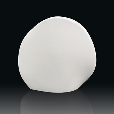 Japanese Ceramic Ikebana Vase White Vintage Mid Century Modern by VintageInquisitor