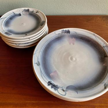 Vintage Craig Martell dinner and luncheon plates / signed PNW studio pottery / boho modern ceramics by EarthshipVintage