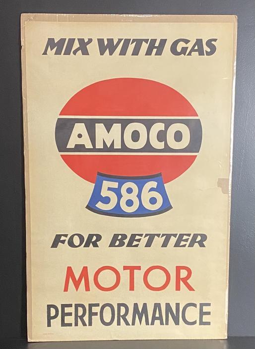 Original AMOCO Auto Poster by Lucian Bernhard