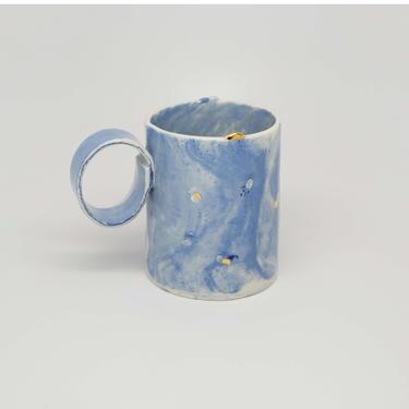 Ready to Ship, Handmade Porcelain Americano Mug by fromfran