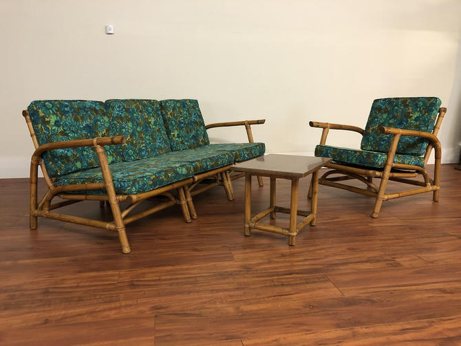 Calif-Asia Mid Century Modular Sofa and Lounge Chair Set With Side Table by Vintagefurnitureetc