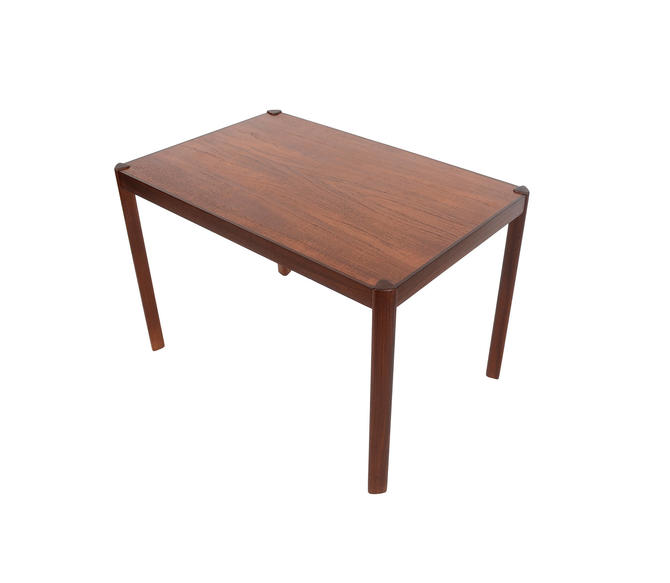 Hans Olsen Teak and Rosewood Side Table Danish Modern by HearthsideHome