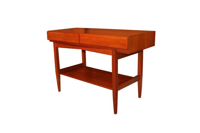 Mid Century ib Kofod Larsen Teak Console Table For Faarup Mobelfabrik by Marykaysfurniture