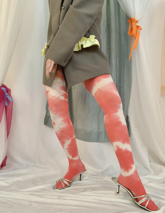 Strawberry Shortcake Tie Dye Tights by shopjournal