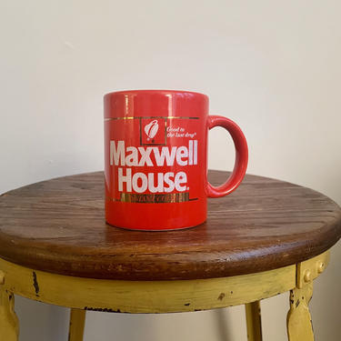 """Vintage Orange Maxwell House Coffee Cup, Made in Japan, Retro Advertising, """"Good to the last drop"""" by BlackcurrantPreserve"""