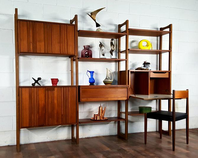 Elegant Slick Versatile Danish Modern Wall Unit