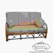 Antique Split Reed Rattan Bamboo Sofa by BucksEstateTraders