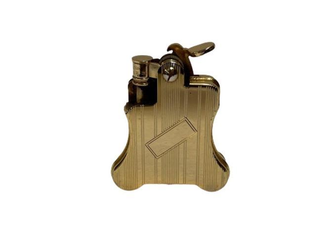 Gold Plated Ronson Banjo Stylish Design Petrol Lighter, Japan by HarveysonBeverly