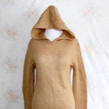Vintage 90s Y2K Mohair Sweater, 1990s Sweaterdress, Hoodie, Sweater Dress, Fuzzy, Chunky, Minimalist by WildwoodVintage