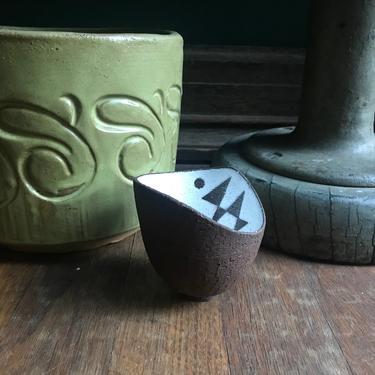 Vintage Danish Rare Small Vessel Thomas Toft Studio Pottery White Glaze Series Mid-Century Modern by BrainWashington