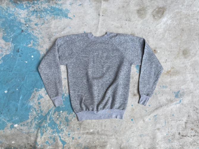 Vintage 1980s Pannill Heather Gray Raglan Sweatshirt by NorthGroveAntiques
