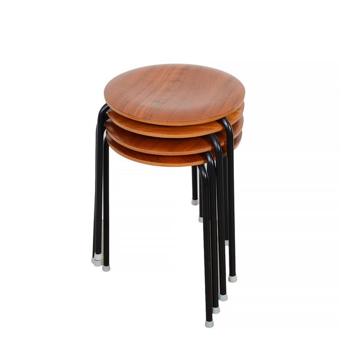 Arne Jacobsen Dot Stools Set of 4 made by Fritz Hansen Made in Denmark by HearthsideHome