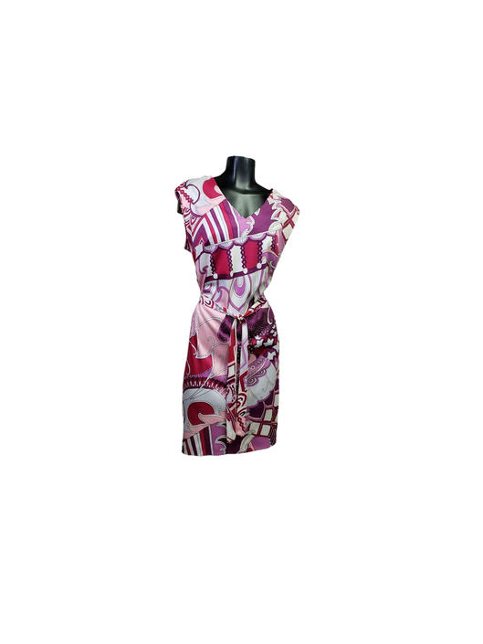 Vintage Diane Young Dress, 1960s Psychedelic Pucci Dress, Abstract Purple & White Day Dress, Rockabilly Clothes, Retro EUC Vintage Clothing by AGoGoVintage