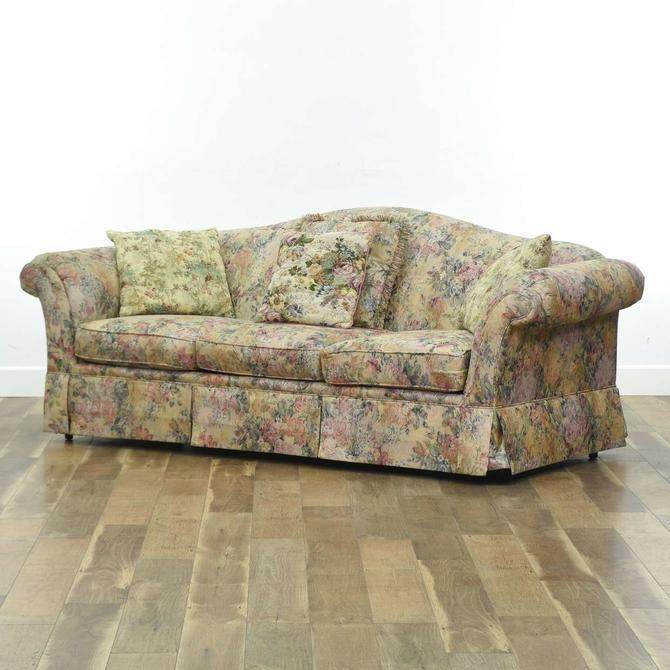 Schnadig Steelace Floral Sofa