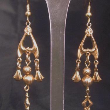 Art Nouveau Dangle Pierced Earrings by LazyDogAntiqueStore