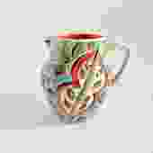 Floral Sgraffito Pitcher 1 (Small)