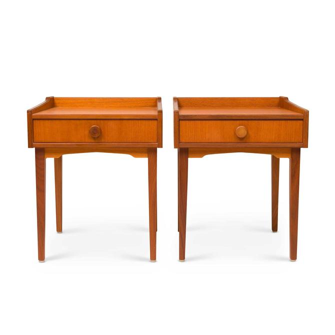 Vintage Danish Mid-Century Teak Night Stands (Pair) by MCMSanFrancisco