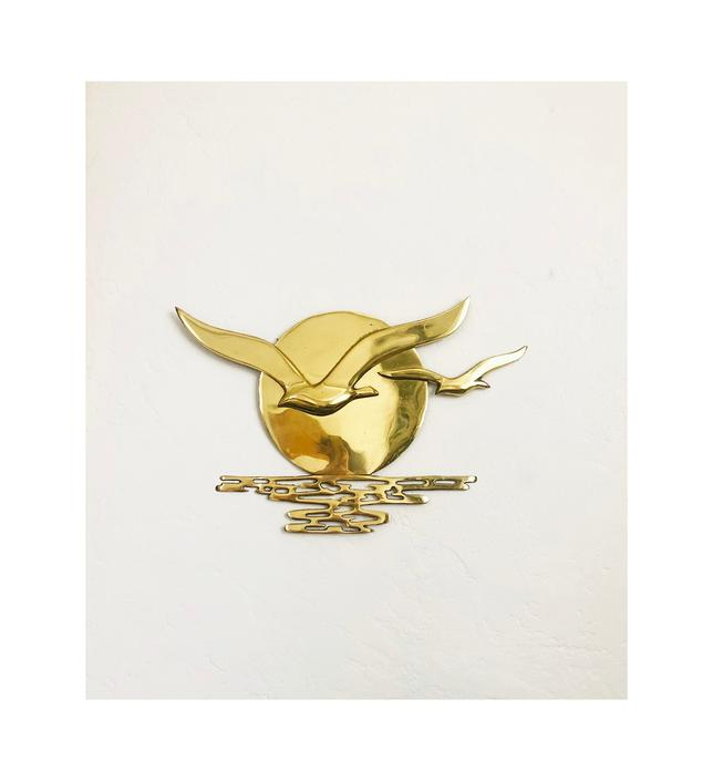Mid Century Brass Seagull Wall Hanging by SergeantSailor