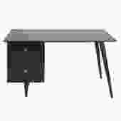 Paul McCobb Stylish Desk In Ebonized Maple 1950s (Signed)