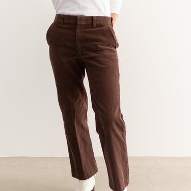 Vintage 31 Waist Chocolate Brown Corduroy Trousers | 70s Mid Rise | Made in USA | by RAWSONSTUDIO