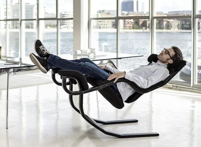 "Danish Modern Zero Gravity Recliner Chair By Peter Opsvik for Stokke / ""Gravity Balans Chair"" by Varier by RetroSquad"