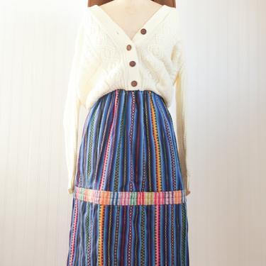 handmade serape wool skirt - medium large by foganddriftwood