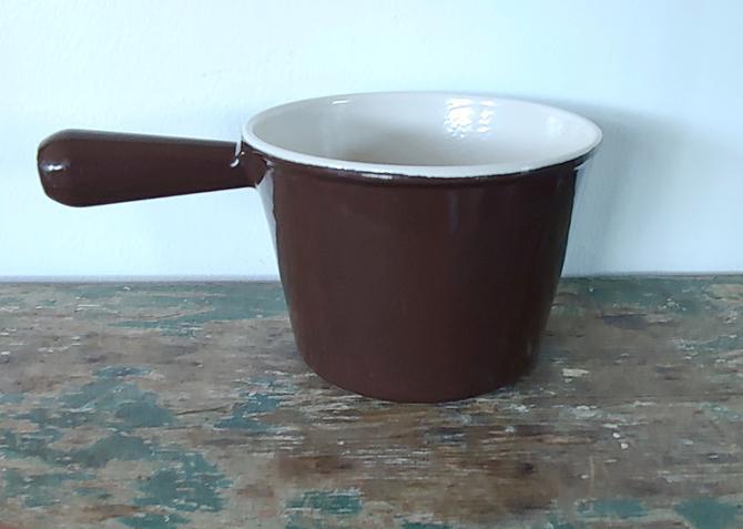 Vintage Le Creuset Sauce Pan Fondue Pot by ModandOzzie