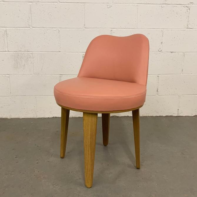 Edward Wormley Leather Swivel Vanity Chair