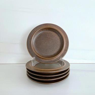 "Vintage Mid Century Modern Arabia of Finland RUSKA 8"" Side Plate Scandinavian Finnish Design Ulla Procope 1960s Brown Glaze by SwankyChaperooo"
