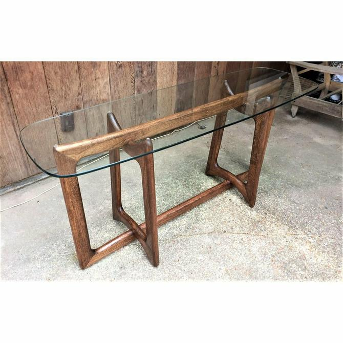 Adrian Pearsall Ribbon Rare Console Table Walnut Dog Bone Base Vintage