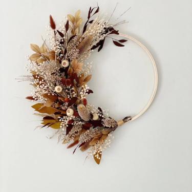 Neutral Fall Browns and Creams Wreath, Neutral front door wreath, Modern Fall Wreath by NovaWreaths