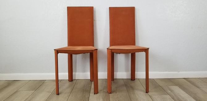 A Pair of Leather Chairs by De Couro of Brazil . by MIAMIVINTAGEDECOR