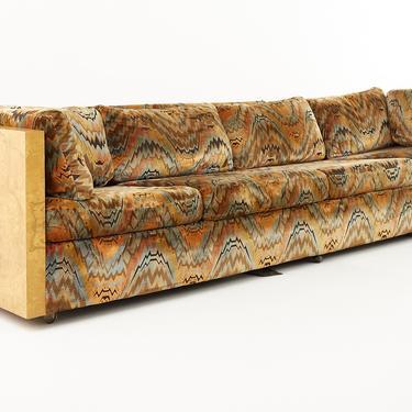 Milo Baughman for Thayer Coggin Mid Century Burlwood 4 Seat Case Sofa - mcm by ModernHill