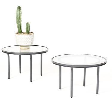 Vintage Mid Century Brown Jordan Patio Kantan Side Tables — Tadao Inouye — Pair by atomicthreshold