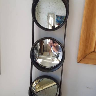 Vintage industrial cake pan mirror by StateStreetSalvage