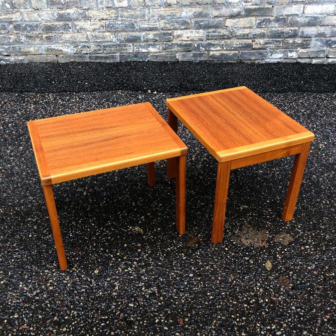 Danish Teak Accent Table Pair